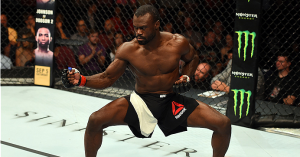 Uriah Hall in a ninja stance